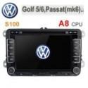 VW Navigatie Dedicata Volkswagen Passat Golf 6 Jetta Polo S100