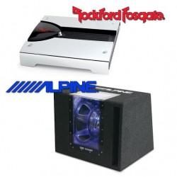 Pachet Bass Alpine SBG-1244BP + Amplificator Rockford Fosgate P2002