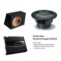 Pachet bass Rockford Fosgate P2D212 + incinta + amplificator