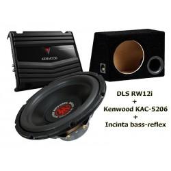 Difuzor DLS KW12 + Amplificator Kenwood KAC-5206
