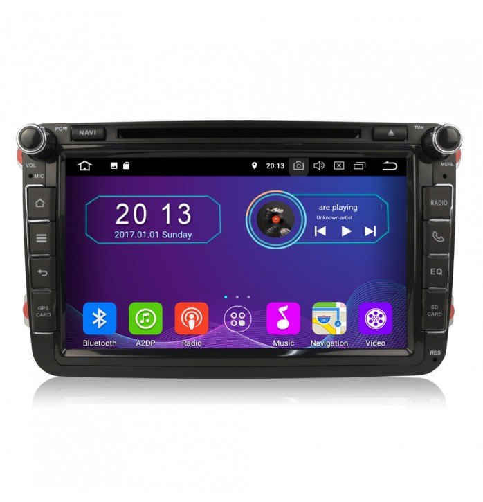 Navigatie android 9, dedicata VW, ecran de 8 inch, 4Gb RAM, wifi, waze, youtube