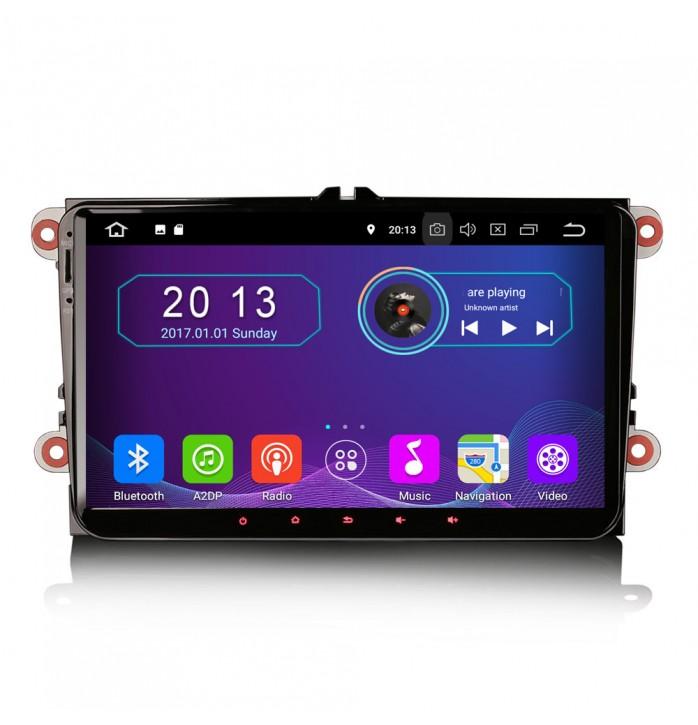 Navigatie dedicata VW cu android 9, 2Gb RAM, wifi, waze, youtube