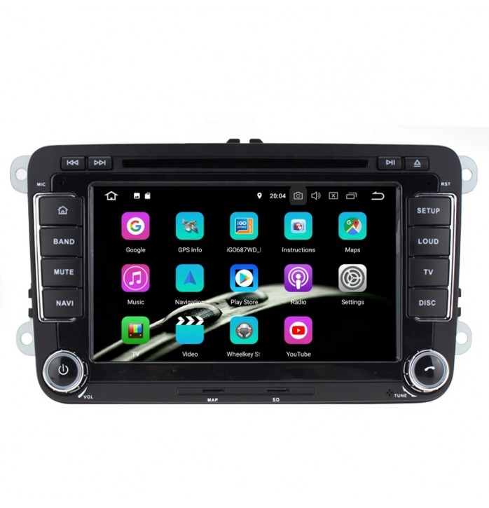 Navigatie dedicata VW cu android 9, 2Gb RAM, wifi, waze, youtube