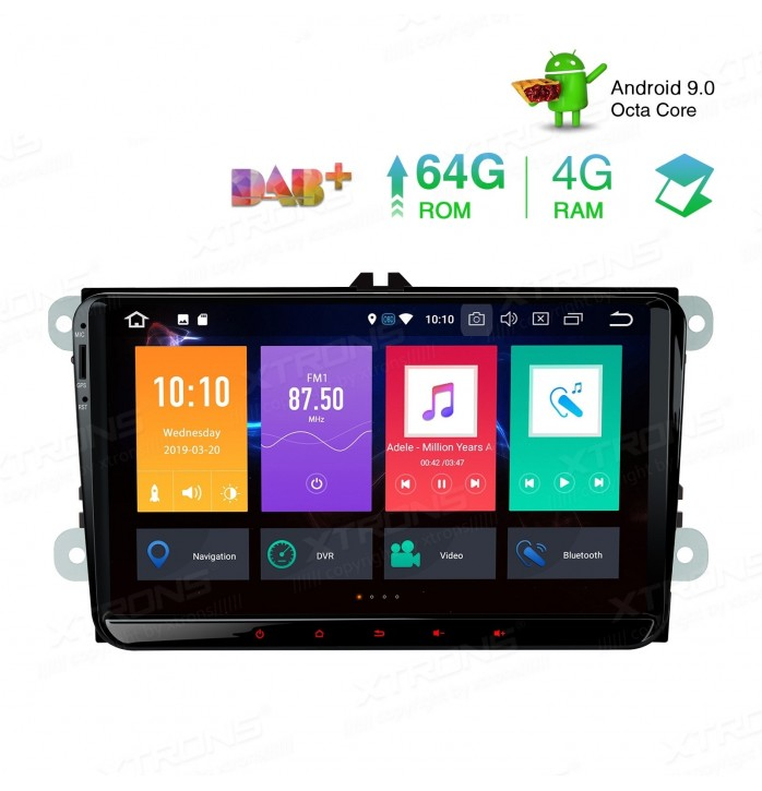 Navigatie cu Android 9 pentru gama VW, Skoda, Seat 4Gb RAM si 64Gb ROM cdpbx99mrvl